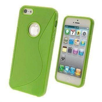 iPhone 5 / 5S / SE iGadgitz Dual Tone Napsautuskuori Vihreä