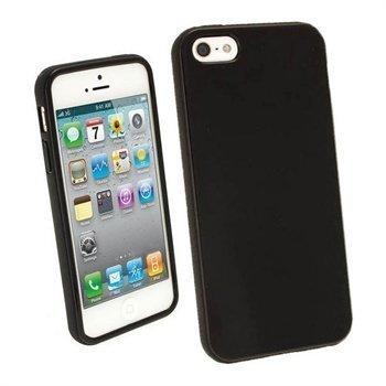 iPhone 5 / 5S / SE iGadgitz Glossy Durable TPU Napsautuskuori Musta