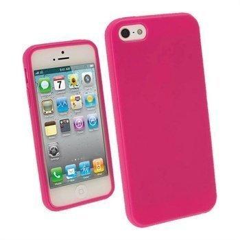 iPhone 5 / 5S / SE iGadgitz Glossy Durable TPU Napsautuskuori Pinkki