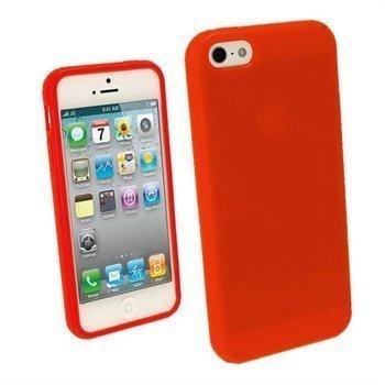 iPhone 5 / 5S / SE iGadgitz Glossy Durable TPU Napsautuskuori Punainen