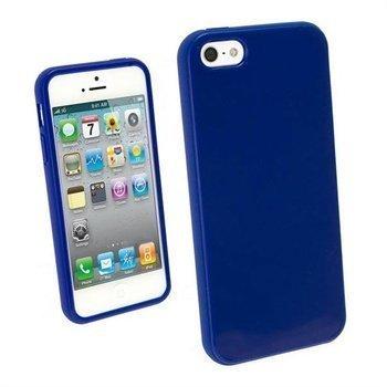 iPhone 5 / 5S / SE iGadgitz Glossy Durable TPU Napsautuskuori Sininen
