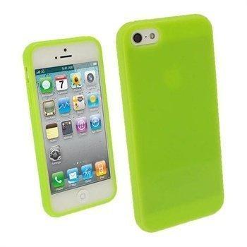 iPhone 5 / 5S / SE iGadgitz Glossy Durable TPU Napsautuskuori Vihreä