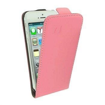 iPhone 5 / 5S / SE iGadgitz Nahkainen Läppäkotelo Pinkki