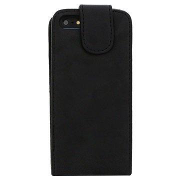 iPhone 5 / 5S / SE iGadgitz Nahkakotelo Musta