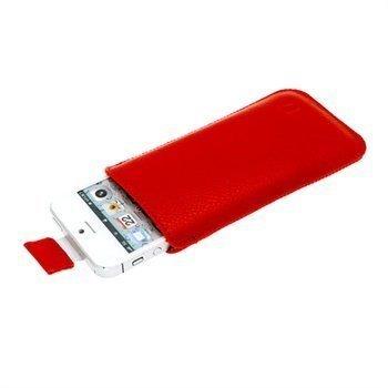 iPhone 5 / 5S / SE iGadgitz Nahkakotelo Punainen