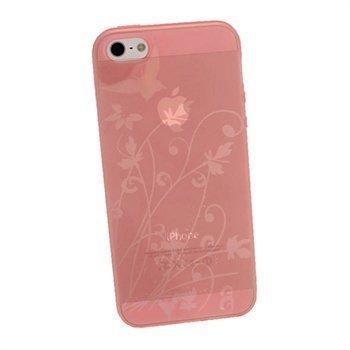 iPhone 5 / 5S / SE iGadgitz Perhoskuvioitu TPU-Suojakotelo Pinkki
