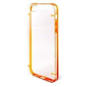 iPhone 5 / 5S / SE / iPhone 5S iPhone SE Ksix Edge Kova Kotelo Läpinäkyvä Oranssi