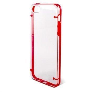 iPhone 5 / 5S / SE / iPhone 5S iPhone SE Ksix Edge Kova Kotelo Läpinäkyvä Punainen