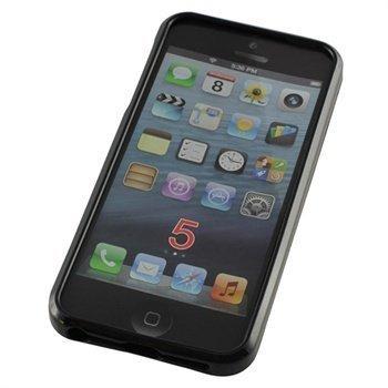 iPhone 5 / 5S TPU-Suojakotelo Musta