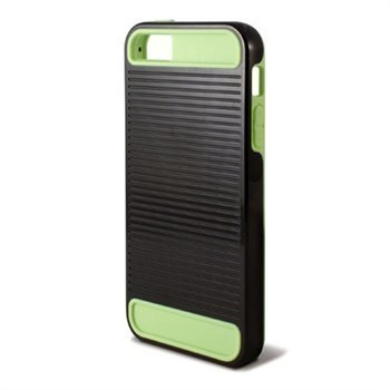 iPhone 5 iPhone 5S iPhone SE Ksix Ebot TPU-Suojakuori Musta / Vihreä