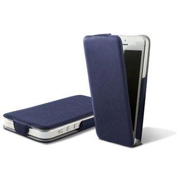 iPhone 5 iPhone 5S iPhone SE Ksix Ultra Slim Flip PU-Nahkakotelo Sininen