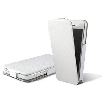 iPhone 5 iPhone 5S iPhone SE Ksix Ultra Slim Flip PU-Nahkakotelo Valkoinen