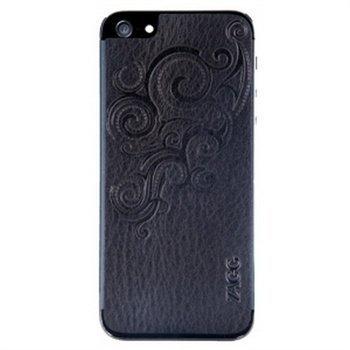 iPhone 5 iPhone 5S iPhone SE ZAGG Nahkasuojus Kohokuvioitu Musta
