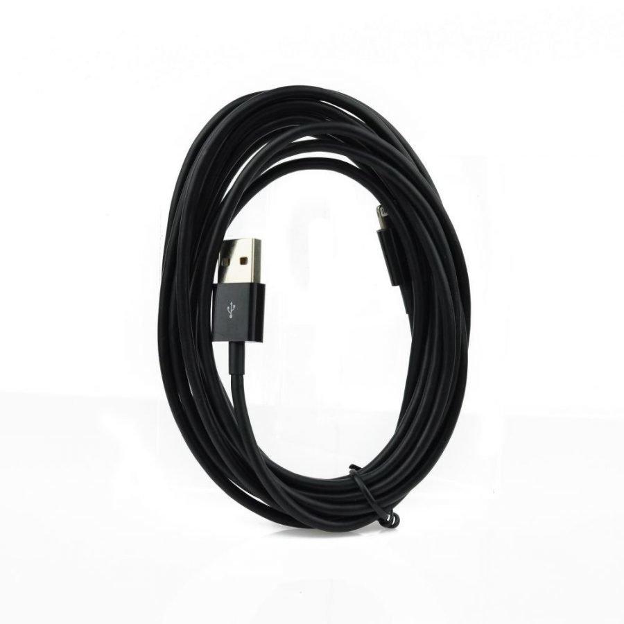 iPhone 5 ja 6 / iPad Lightning USB Kaapeli 3m Musta Uusi versio paksumpi kaapeli
