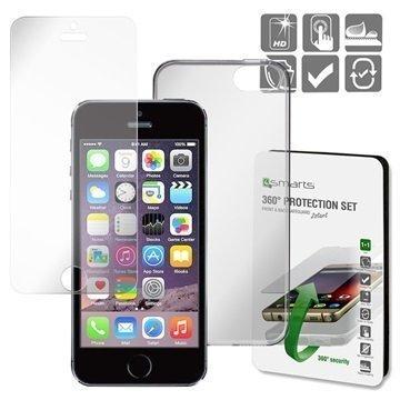 iPhone 5/5S/SE 4smarts 360 Suojaussetti Läpinäkyvä