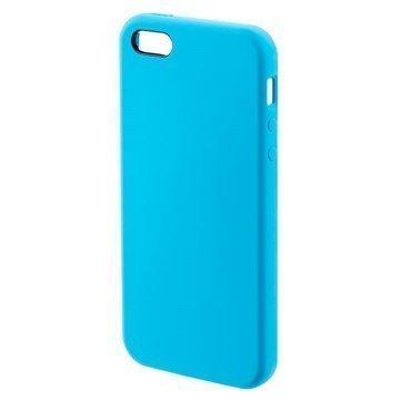 iPhone 5/5S/SE 4smarts Cupertino Silikoni-Suojakuori Sininen