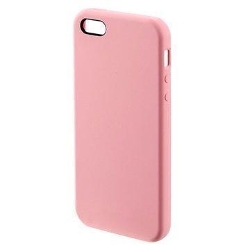 iPhone 5/5S/SE 4smarts Cupertino Silikoni-Suojakuori Vaaleanpunainen