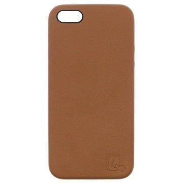 iPhone 5/5S/SE 4smarts Venice Clip Kuori Ruskea