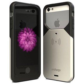 iPhone 5/5S/SE AirCharge Langaton Latauskotelo Musta / Valkoinen