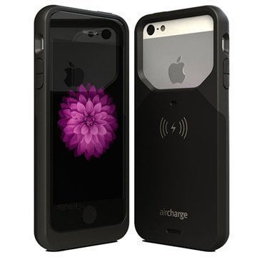 iPhone 5/5S/SE AirCharge Langaton Latauskotelo Musta