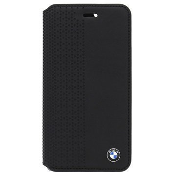 iPhone 5/5S/SE BMW Perforated Leather Book Case Black