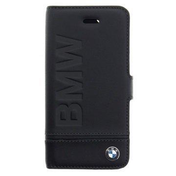iPhone 5/5S/SE BMW Signature Wallet Leather Case Black