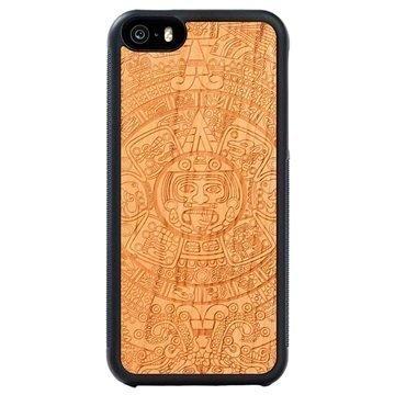 iPhone 5/5S/SE Carved Traveler Kotelo Atsteekkien Kalenteri