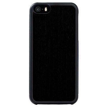 iPhone 5/5S/SE Carved Traveler Kotelo Uudelleenmuodostettu Eebenpuu