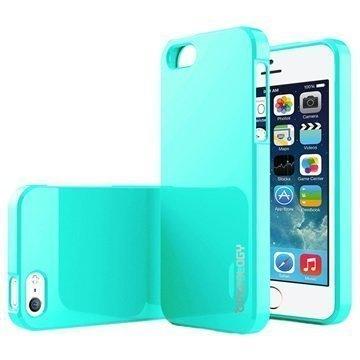 iPhone 5/5S/SE Caseology Drop Protection TPU-Kotelo Turkoosi / Mintunvihreä