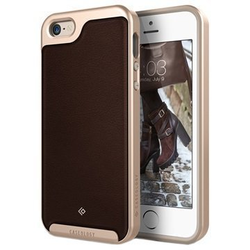iPhone 5/5S/SE Caseology Envoy Case Brown / Gold