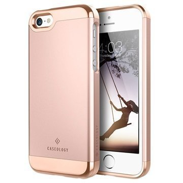 iPhone 5/5S/SE Caseology Savoy Kotelo Ruusukulta