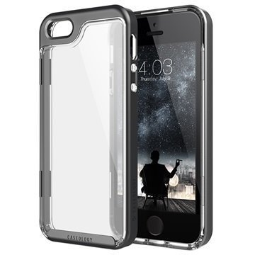 iPhone 5/5S/SE Caseology Skyfall Kotelo Musta