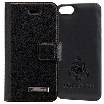 iPhone 5/5S/SE Commander Book & Cover Kotelo Musta