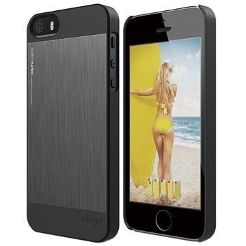 iPhone 5/5S/SE Elago Outfit Matrix Kuori Tummanharmaa