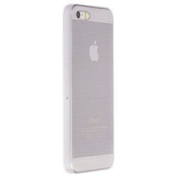 iPhone 5/5S/SE Krusell Boden Kuori Läpinäkyvä / Valkoinen