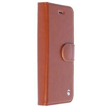 iPhone 5/5S/SE Krusell Ekero 2-in-1 Wallet Case Cognac