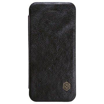iPhone 5/5S/SE Nillkin Qin Sarjan Läppäkotelo Musta