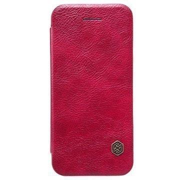iPhone 5/5S/SE Nillkin Qin Sarjan Läppäkotelo Punainen