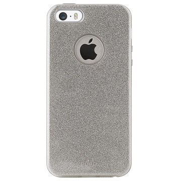 iPhone 5/5S/SE Puro Glitter Shine Kotelo Hopea