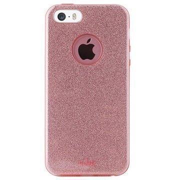 iPhone 5/5S/SE Puro Glitter Shine Kotelo Ruusukulta