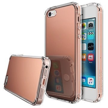 iPhone 5/5S/SE Ringke Mirror Case Rose Gold