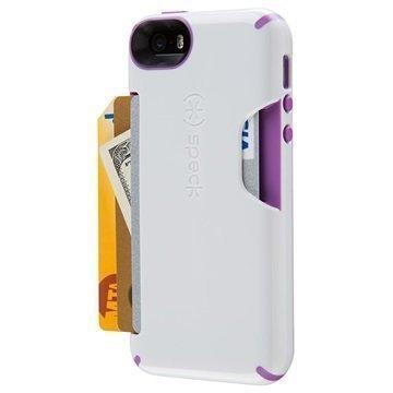 iPhone 5/5S/SE Speck CandyShell Korttikotelo Valkoinen / Violetti