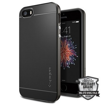 iPhone 5/5S/SE Spigen Neo Hybridi Suojakuori Gunmetal