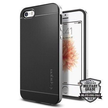 iPhone 5/5S/SE Spigen Neo Hybridi Suojakuori Satiinihopea