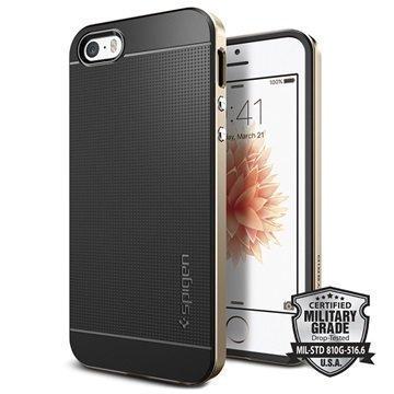 iPhone 5/5S/SE Spigen Neo Hybridi Suojakuori Shamppanjakulta