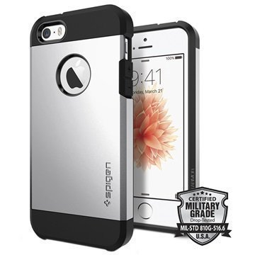 iPhone 5/5S/SE Spigen Tough Armor Kotelo Satiinihopea