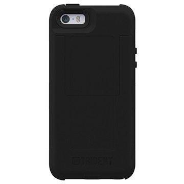 iPhone 5/5S/SE Trident Aegis Wallet Kotelo Musta