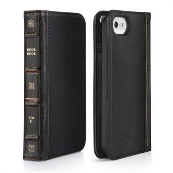 iPhone 5/5S/SE Twelve South BookBook Nahkakotelo Musta