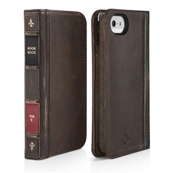 iPhone 5/5S/SE Twelve South BookBook Nahkakotelo Ruskea