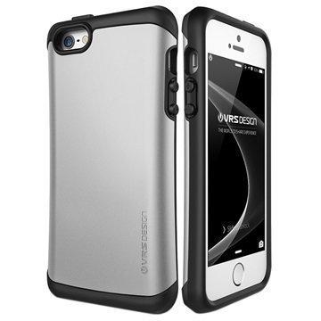 iPhone 5/5S/SE VRS Design Thor Hard Drop Kotelo Vaalea Hopea